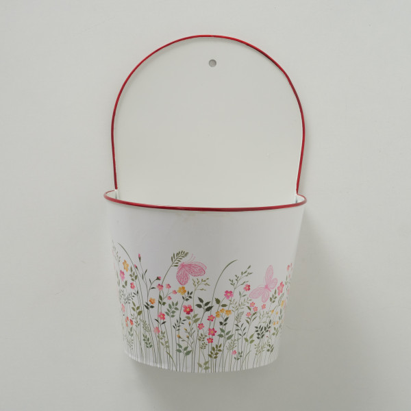 PFLANZTOPF ROSALIE FLORAL 32CM ZINK ROT