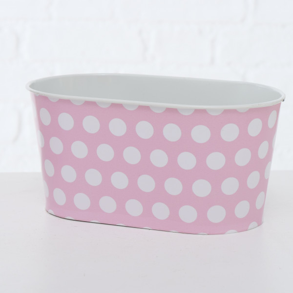 PFLANZTOPF MARIE 9,5CM ZINK PINK BOLTZE