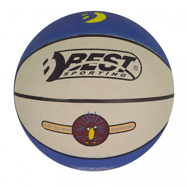 BEST MINI-BASKETBALL BLAU/CREMEFARBEN