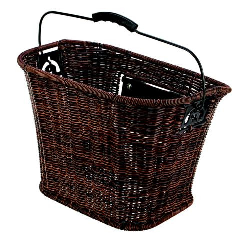 "Prophete FAHRRADKORB ""CITY"" RATTAN-OPTIK - BRAUN"
