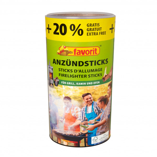 FAVORIT ANZÜNDSTICKS 100 + 20% GRATIS