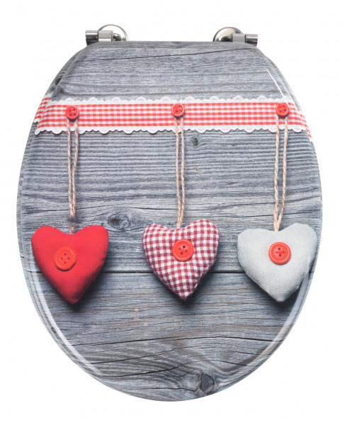 WENKO WC-SITZ BAVARIAN HEARTS