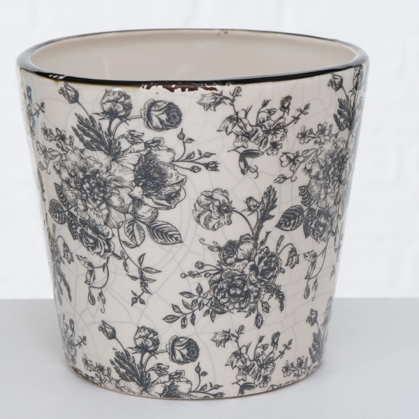 PFLANZTOPF ANNY FLORAL 15CM WEISS BOLTZE